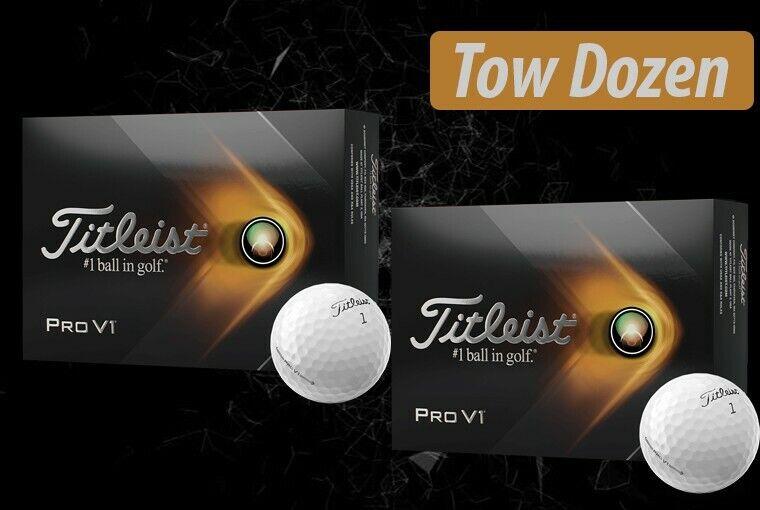 [New] 2021 titleist pro v1 golf balls (Two Dozen)