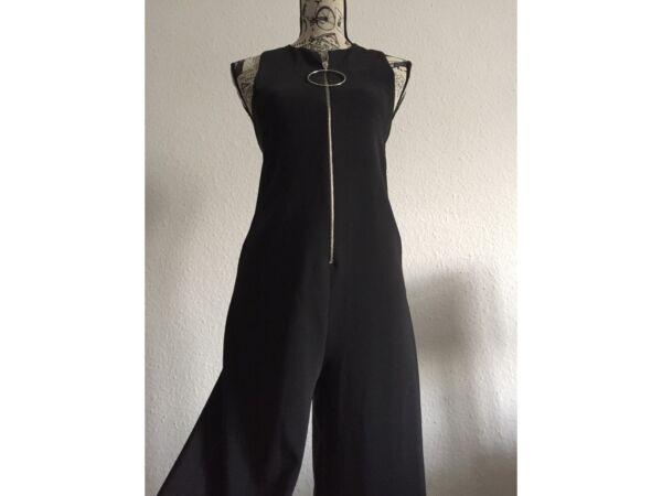2019 DernièRe Conception Zara Zipped Jumpsuit/ Overall/ Einteiler In Schwarz, Gr.s, -neu Mit Etikett- Limpide à Vue
