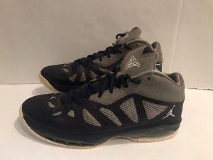 96e1fee83259f9 Nike Air Jordan Melo M8 Advance 542240-402 Navy Grey Basketball ...