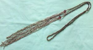 Antique Vintage 1920s Flapper Long Glass Beaded Sautoir Necklace 56g 174cm MINT