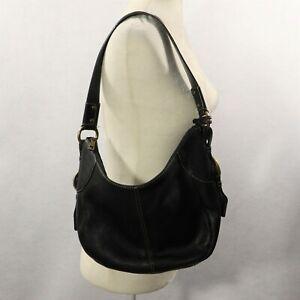 6f186eedd6 Image is loading FOSSIL-Medium-Large-Black-Leather-Hobo-Handbag-Shoulder-