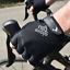 GloveGlu Gel Ride Half Finger Cycle Gloves Cycling Riding