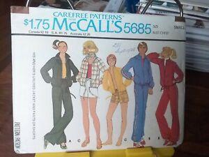 Oop-Mccalls-5685-unisex-unlined-windbreaker-track-suit-shorts-sz-small-NEW
