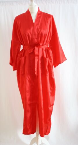 KIMONO Kimono Lang Morgenmantel Bademantel mit Drachenmuster Robe Bath Gown