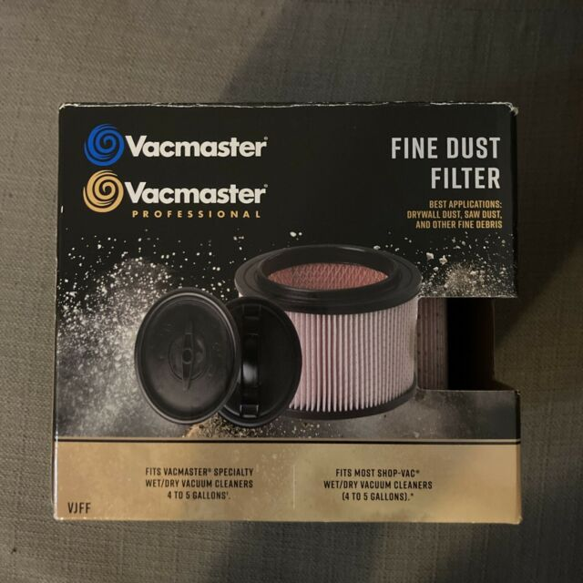 UNUSED Vacmaster VJFF Fine Dust Cartridge Filter for Wet/Dry Vacs - Open Box