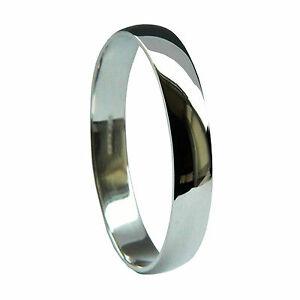3mm-950-Platinum-Wedding-Rings-D-Shape-Bands-Profile-U-K-Hallmarked-3-3g-Medium