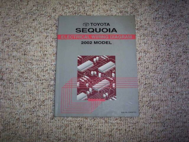 2002 Toyota Sequoia Electrical Wiring Diagram Manual Book