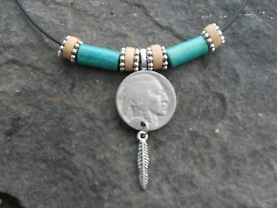 BUFFALO/ INDIAN HEAD NICKEL COIN NECKLACE!!! QUALITY!!! WEAR AMERICAN HISTORY!!!