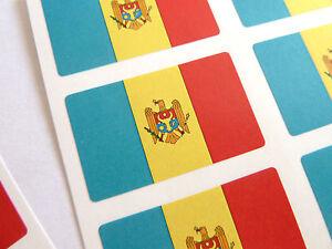 Mini-Pack-de-pegatinas-auta-adhesivo-Moldova-Bandera-etiquetas-fr184