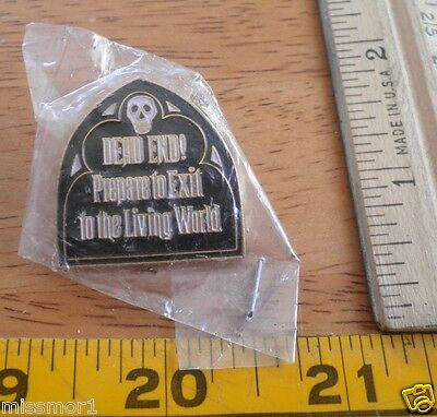 Disneyland pin Dead End sign Haunted Mansion June 26, 1999 MIP # 2028 RARE