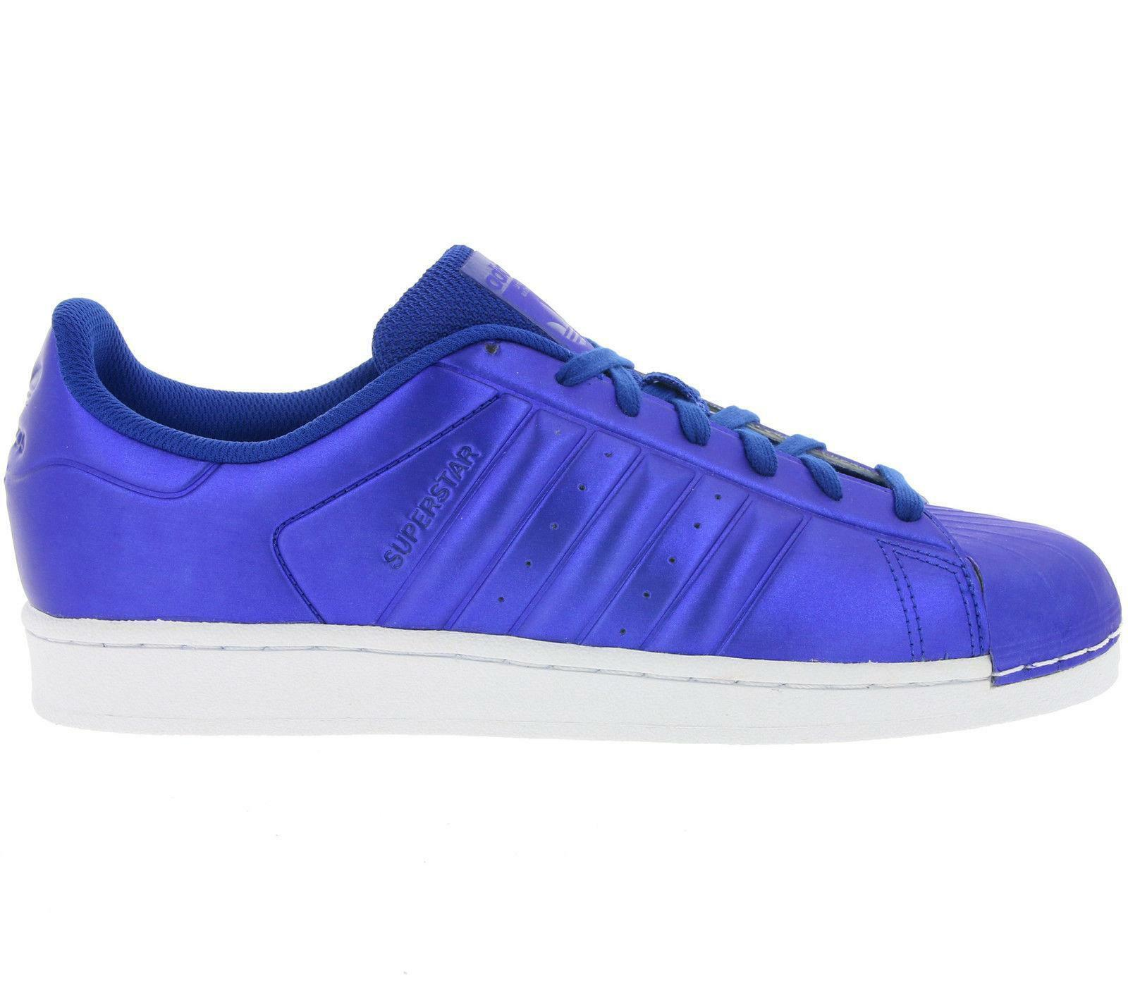 hommes SUPERSTAR Royal bleu Synthetic Trainers BB4876