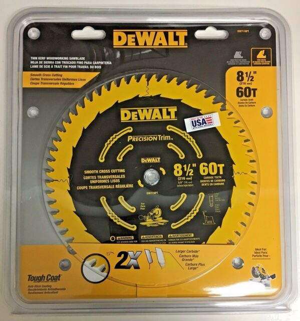 """DeWALT 10/"""" 60T Smooth Crosscutting Saw Blade DW3215PT"""