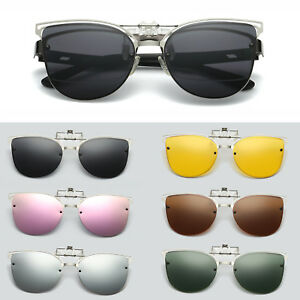 Driving Sunglasses Polarized Flip Eyewear Clip Night Vision About On Eye Cat Lens Details Up hrdsQxCotB