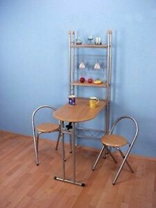Wandtisch klappbar buche esstisch k chentisch klappstuhl 2er set k chentheke ebay - Wandtisch klappbar ...