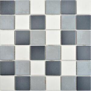 Details zu Keramik Mosaik grau weiß schwarz Wand Küche Fliesenspiegel  Verblender 14-0123_b