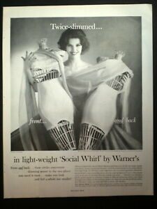 1960-WARNER-039-s-Girdle-Pretty-Lady-with-dress-forms-vintage-Photo-print-ad
