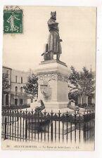 aigues-mortes  la statue de saint-louis