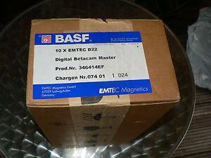 BASF EMTEC Digital Betacam Master D22 10 Stück Professional Videotape NEU