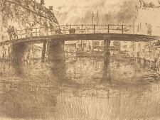 JAMES MCNEILL WHISTLER AMERICAN BRIDGE AMSTERDAM OLD ART PAINTING POSTER BB5783A