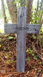 Authentic-Handmade-Halloween-Tombstone-Cross-Prop-Halloween-Decor-Yard-Art