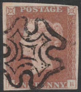 1841-SG8-1d-RED-BROWN-PLATE-22-FINE-USED-USED-4-MARGINS-DEBRIS-IN-CROSS-HB