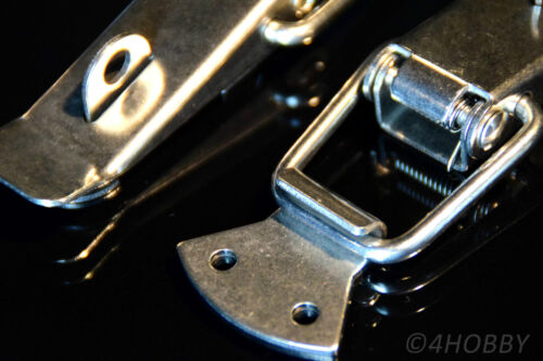 2x acier inoxydable de serrage fermeture verrouillable 130mm BOITES//BOX-levier-Fermeture