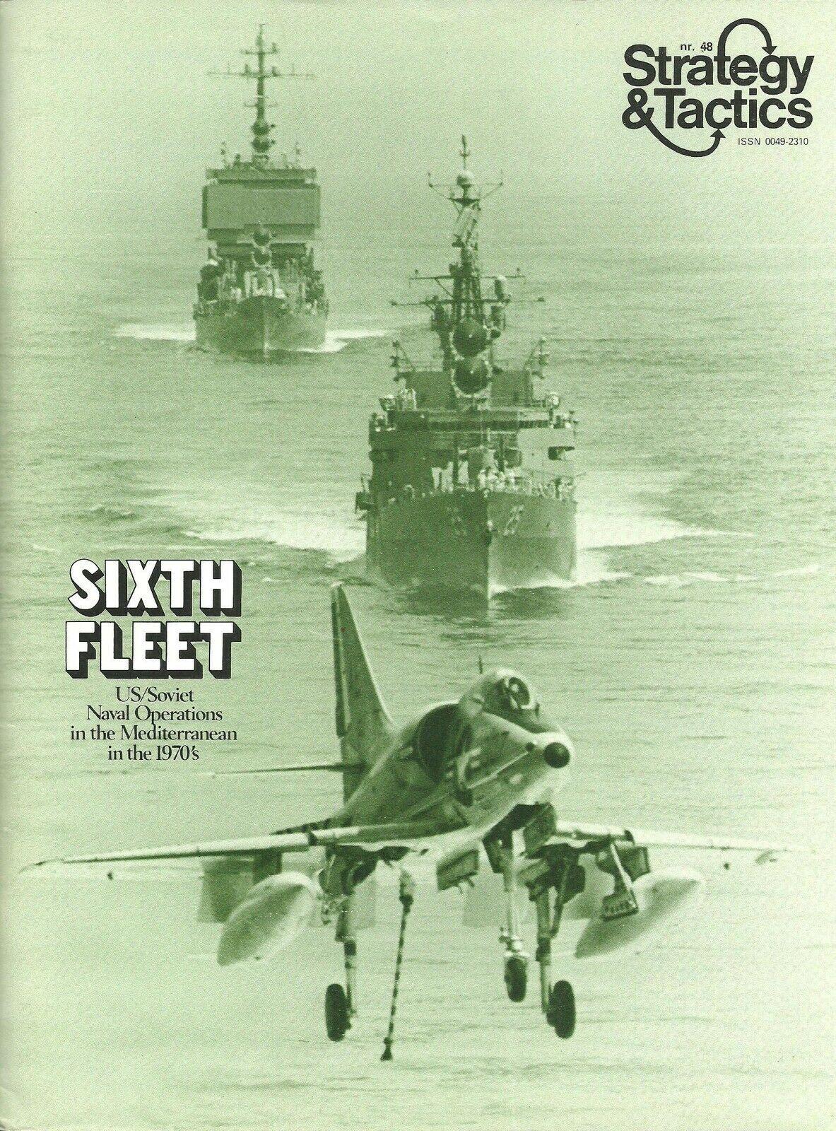 Strategy & Tactics S&T  48 Sixth Fleet Modern Naval unpunched   FS