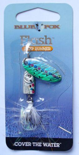 Zander Blue Fox Flash Deep Runer 6 Size Spinning Pike Perch Bait Trout