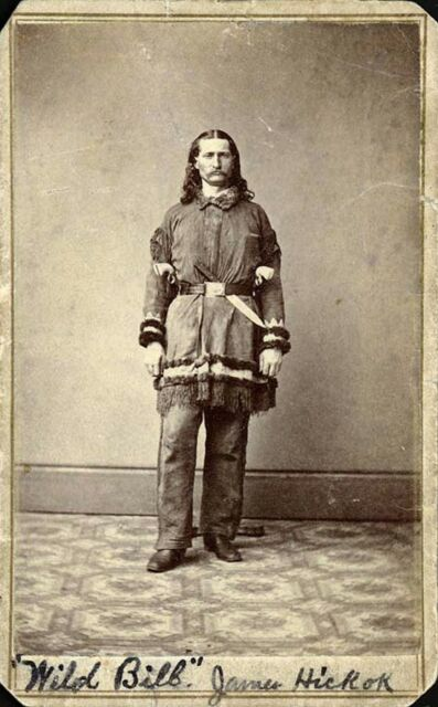 """Wild Bill Hickok Western Figure From Actual Photo Printed on 8"""" X10"""" Photo Paper"""