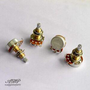 4x-Potentiometres-500Kaudio-Reverse-XLong3-4-034-SplitShaft-Pot-Les-Paul-WD-Lefty