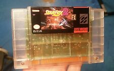 Super Nintendo SNES Starfox 2 Custom Clear Cart Only. Professional vinyl label.