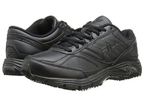 2419cfe6899e87 NEW WOMEN FILA MEMORY FLUX SLIP RESISTANT BLACK ORIGINAL 5SG30033 ...