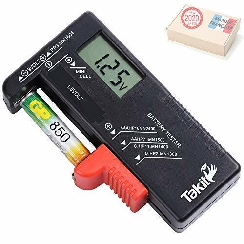Takit tester digital batteries for AA, AAA, C, D, pp3, 9v, 1.5v, button battery