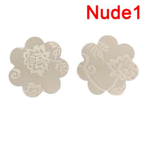 5X Frau Spitze Brustnippel Blütenblatt Pasties Abdeckung BH Selbstklebende ZJP