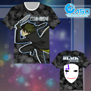 Unisex Anime T shirt Darker Than BLACK Hei Summer Short Casual Tee Tops Gift