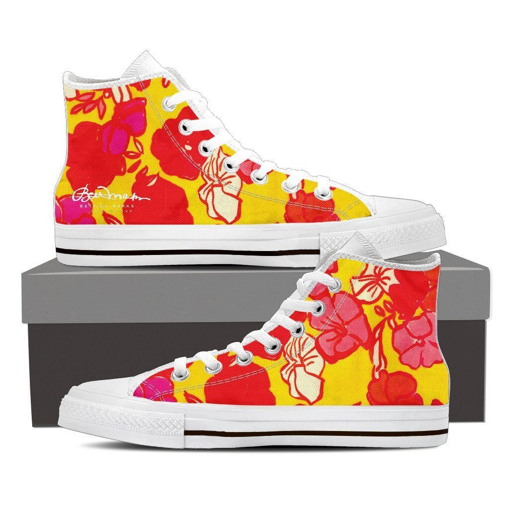 Sixties Floral High Top Sneakers