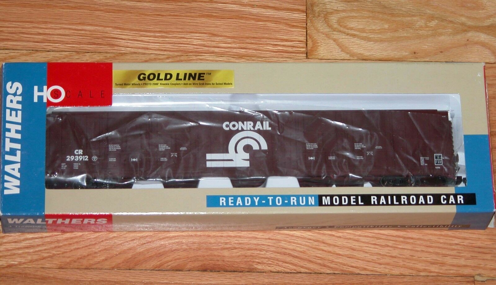 WALTHERS 932-35316 oro LINE PULLMAN STANDARD 86' HI-CUBE BOXCAR 8-DOOR CONRAIL