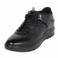 Men's Outdoor Height Elevator Tennis Black Shoe 2.4 Inch Tall For Short Height