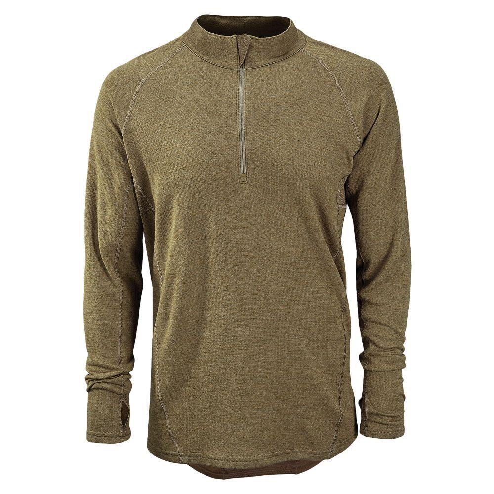 New Balance Merino Wool Base 1/4 Zip Top Military MIL811 FR Midweight Shirt