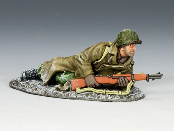 KING AND COUNTRY WW2 Lying Ready Painted Diecast Metal BBA048 BBA48