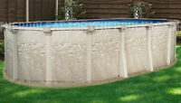 15x24 Oval 54 High Cameo Above Ground Swimming Pool - Liner Not Included