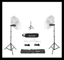 1 pair PORTA UMBRELLA VIDEO LIGHT 4 STILL VIDEO PHOTOGRAPHY PORTABLE studio kit