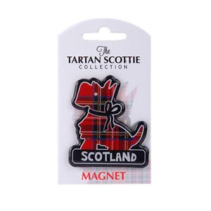 Scottish Iconic Red Tartan Scottie Dog Scotland PU Home Kitchen Magnet
