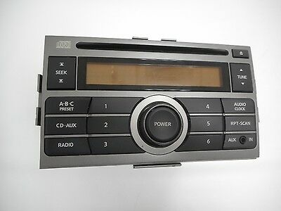 2007-2009 Nissan Sentra AM Fm Radio CD Player Auxiliary Input - Part 28185ET000