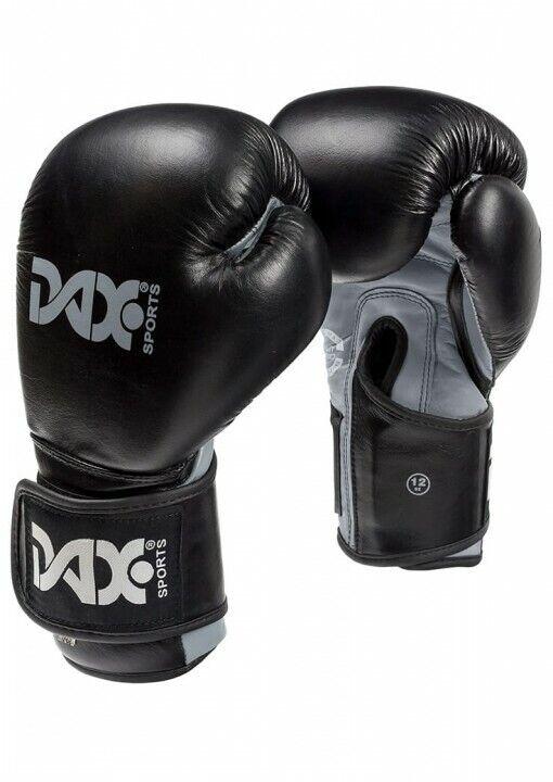 Boxhandschuhe DAX Wrist Lock - Pro Line -   Leder - schwarz  / grau