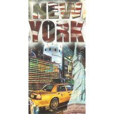 Serviette Drap de plage Taxi New York XL strandtuch beach towel coton