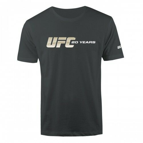 UFC 20th Anniversary Collection -20 Yrs Logo T-Shirt -Char - Men Sz's S-3XL NWT