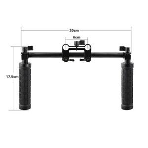 CAMVATE-DSLR-shoulder-Handle-Grip-rig-w-4-Holes-Extendable-Rod-Clamp-30cm-rod