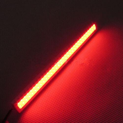 2 12V Super Brights Car LED COB DRL Fog Driving Brake Light Lamp Red Waterproof