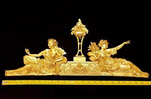 ANTIQUE-STYLE-LOUIS-XVI-EMPIRE-GILT-DECOR-WALL-DOOR-PEDIMENT-MOULDING-DECORATION